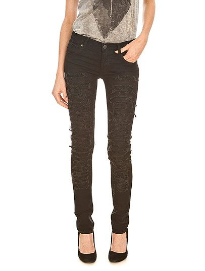 Jeans-Cheap-Monday-Narrow-Narrow-Ripped-And-Sewn